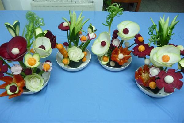 פיסול אמנותי ועיצוב בפירות ובירקות